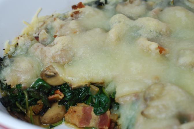 Spinach, Kale, and Mushroom Casserole