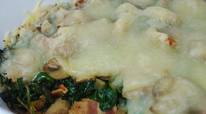 Spinach, Kale, and Mushroom Casserole